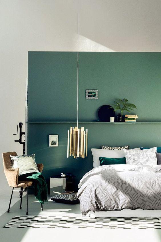 groene-muur-keuken-slaapkamer