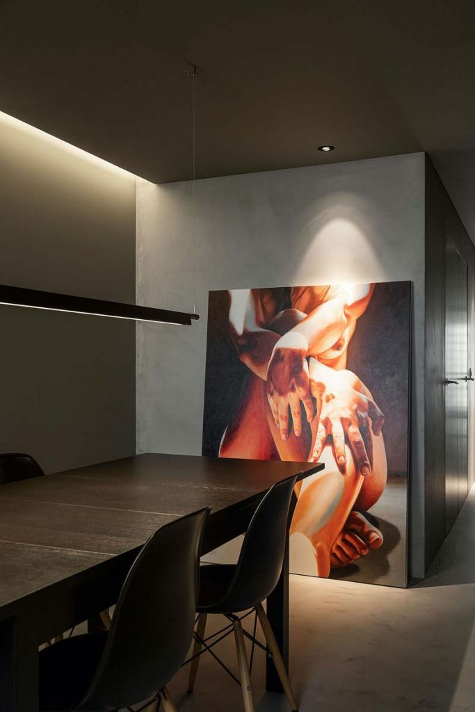 grote schilderij vloer interieur