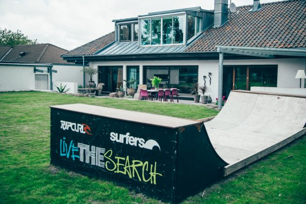 Grote tuin van surf fanatiek Markus Boman