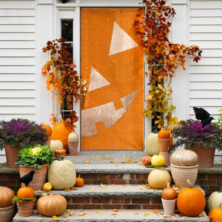 halloween decoratie ideeën pompoen voordeur