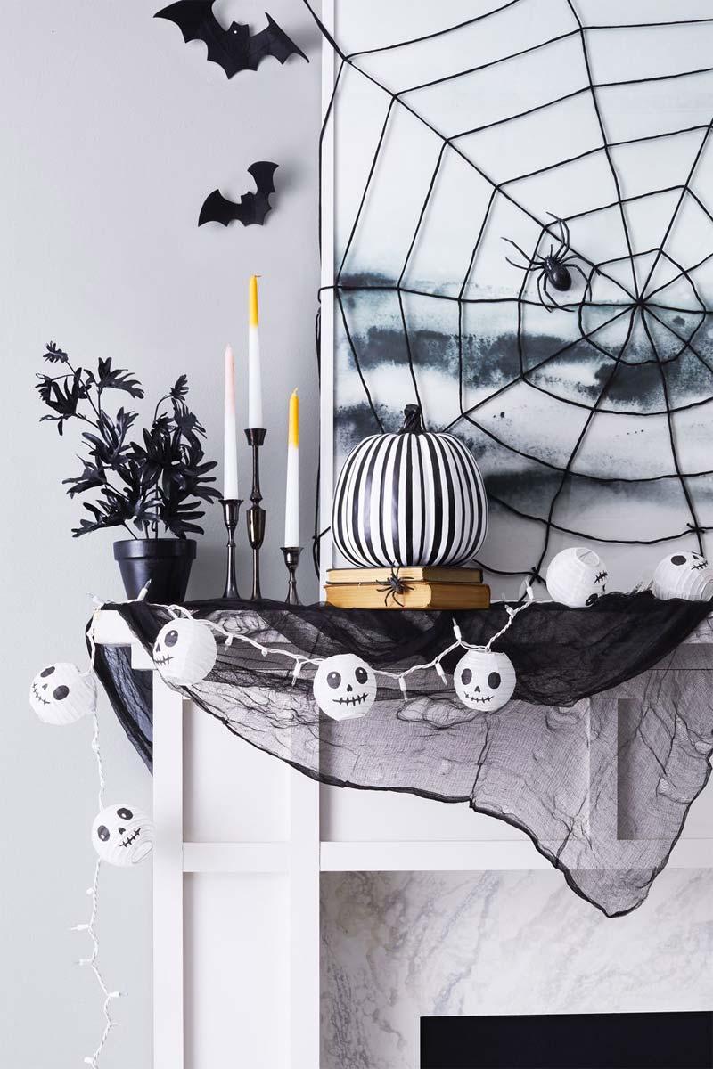 halloween decoratie ideeën spinnenweb maken