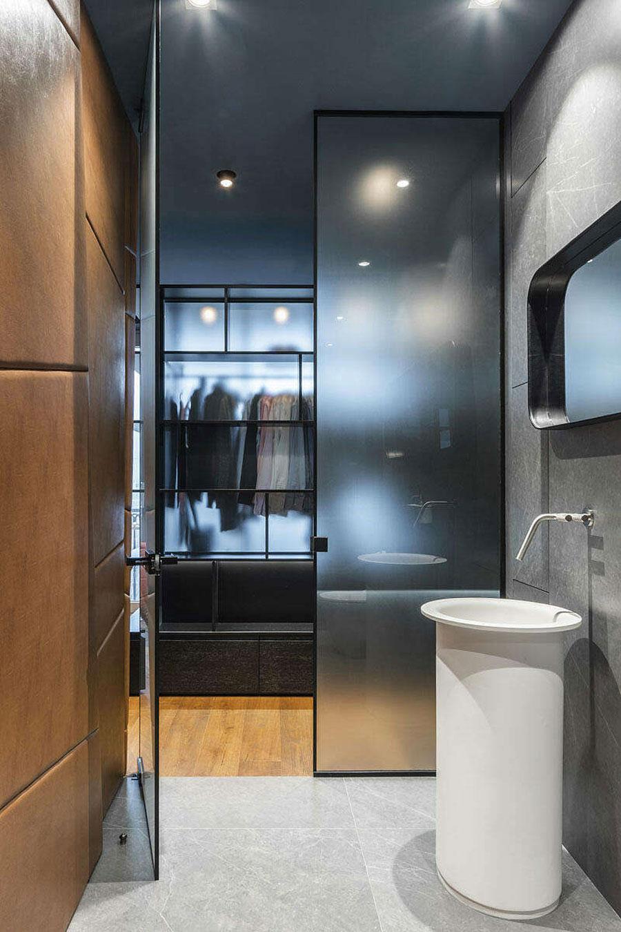 Het ontwerp van deze slaapkamer is gebaseerd op een luxe hotelkamer