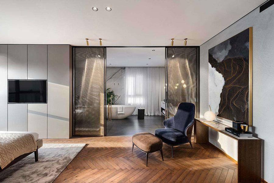 Het ontwerp voor een modern luxe appartement van 250m2