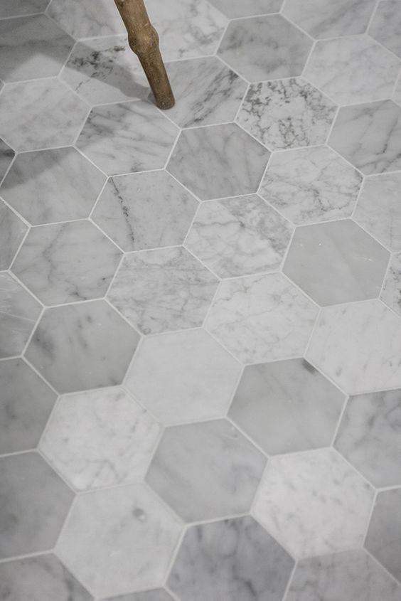 Hexagon tegel vorm