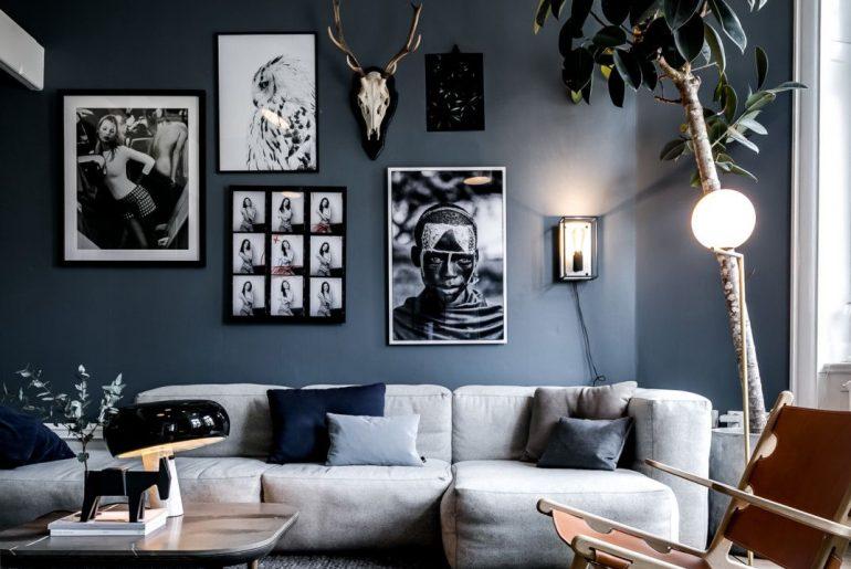 Woonkamer Ideeen Paars.12x Blauwe Muur Homease