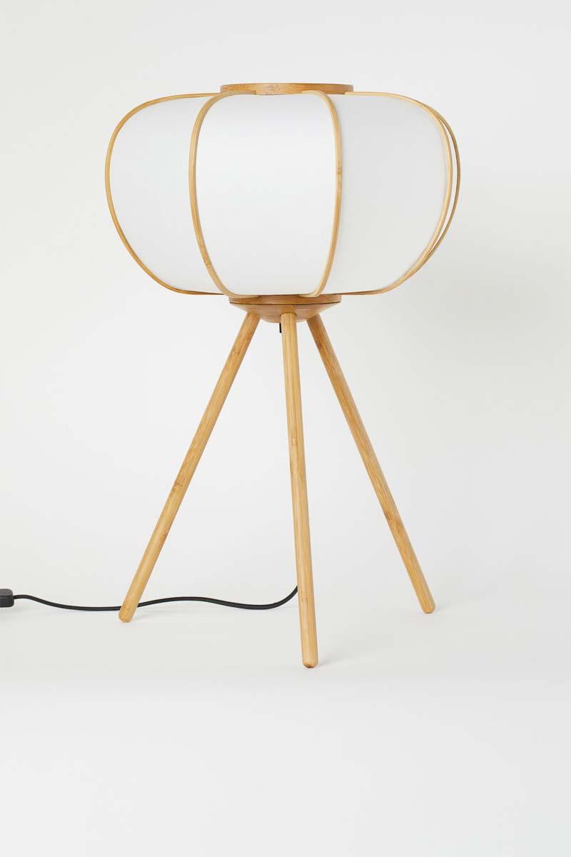 h&m bamboe vloerlamp