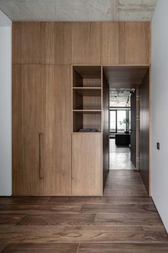 houten inbouwkast