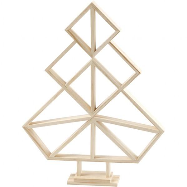 houten kerstboom geometrisch
