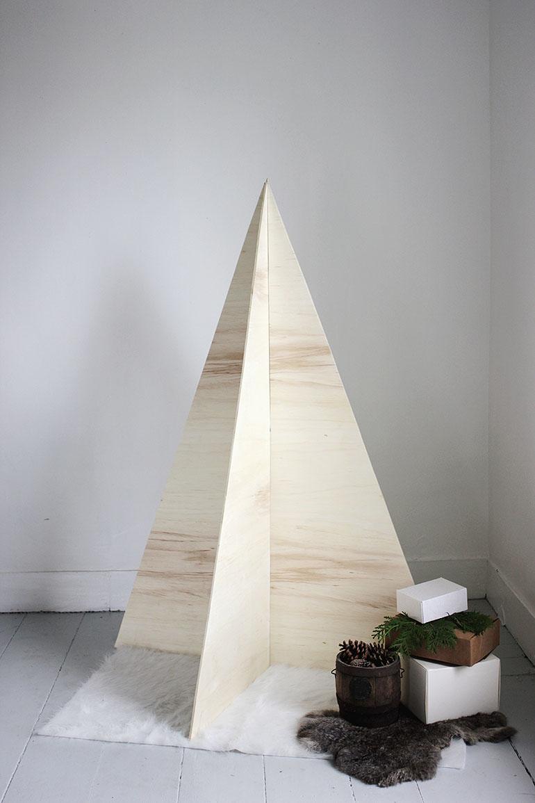 houten kerstboom multiplex