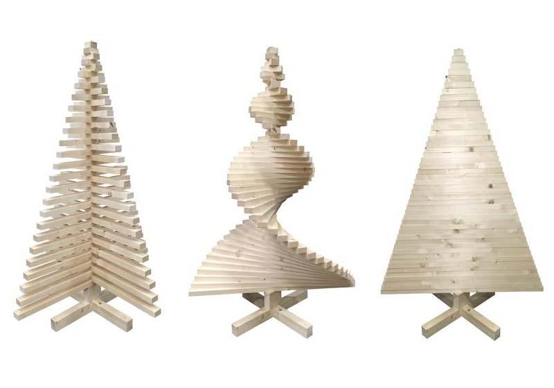 houten kerstboom praxis