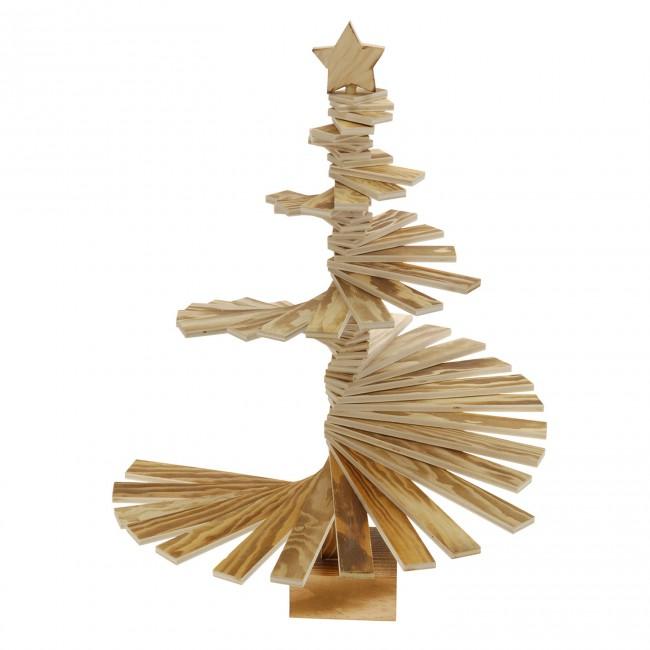 Houten kerstboom wenteltrap