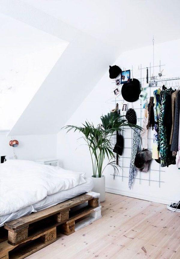 Houten paletten bed
