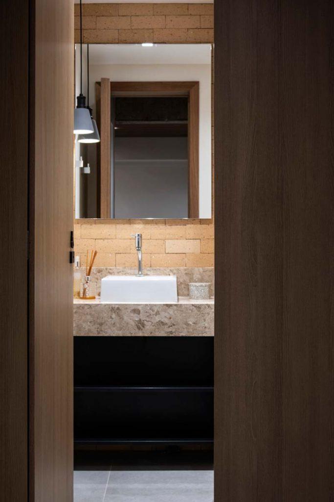 houten schuifdeur badkamer