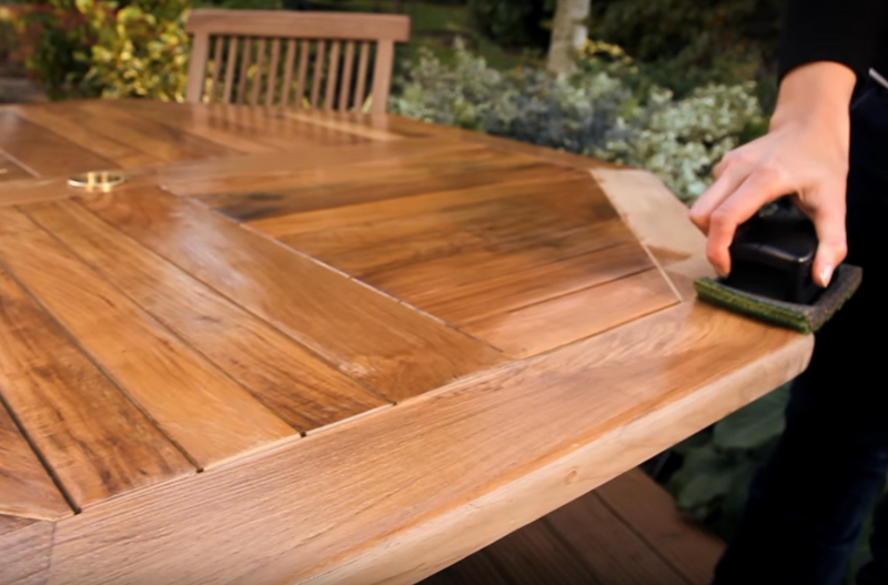 houten tuinmeubels bescherming