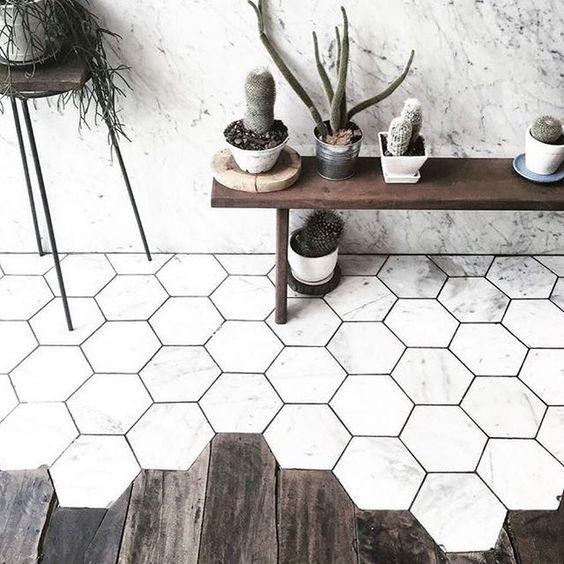 Houten vloer combineren met tegels