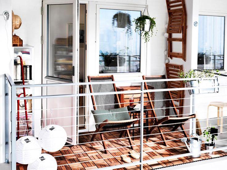 Ikea vlonders op balkon homease