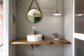houten wastafel blad op maat
