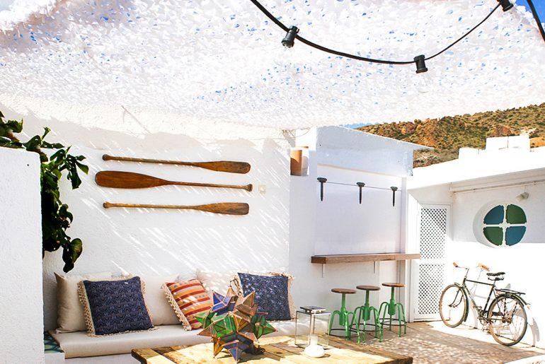 Ibiza sfeer op het dakterras