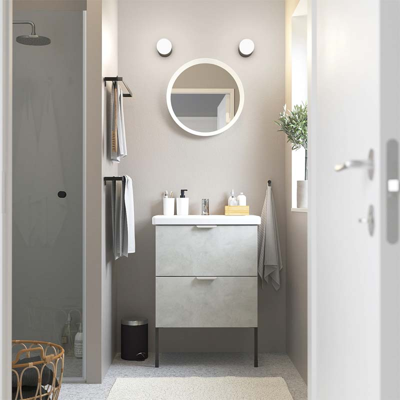 ikea badkamer betonlook