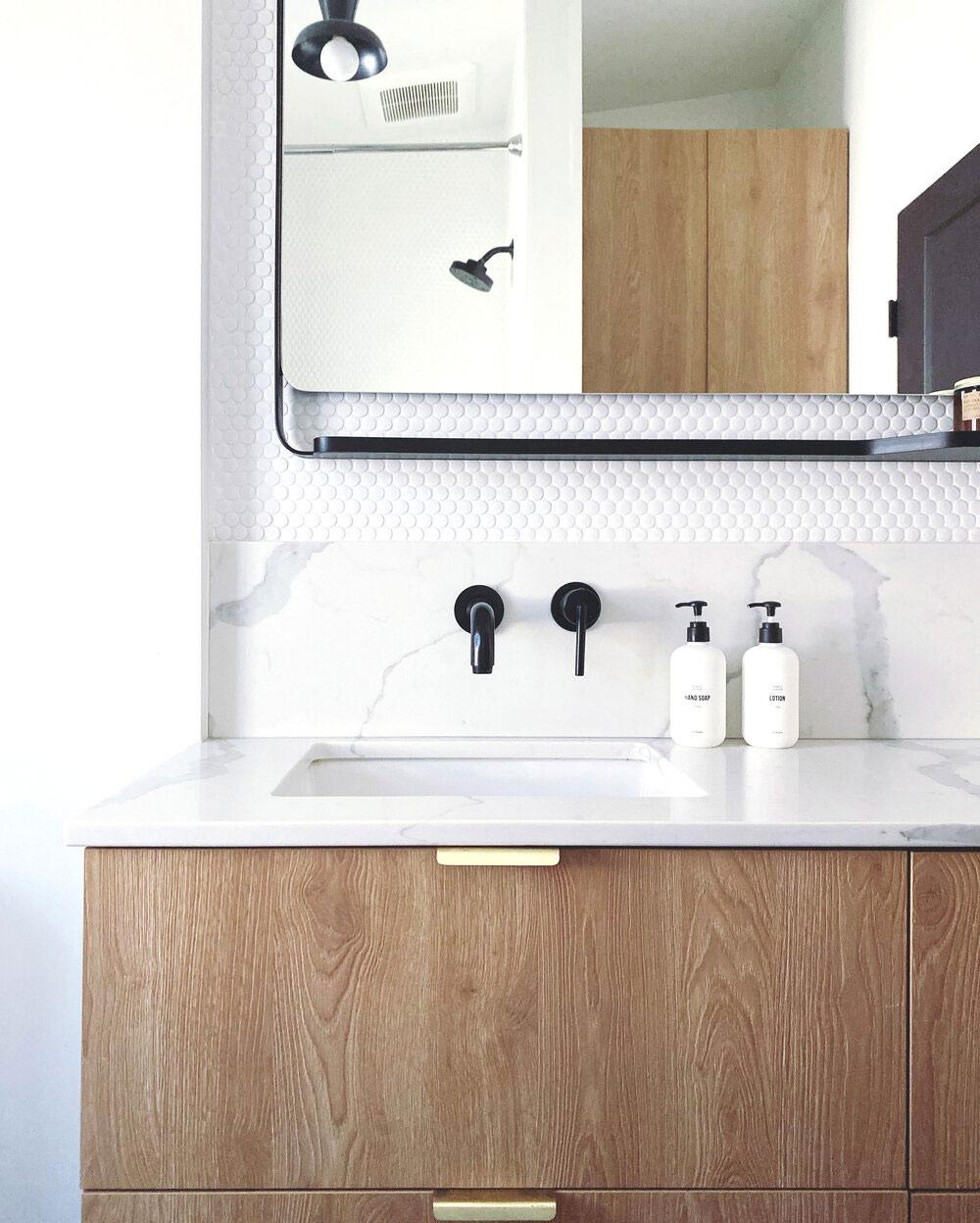 ikea badkamer godmorgen marmeren werkblad