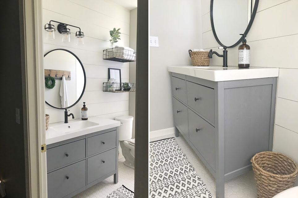 ikea badkamer makeover hemnes