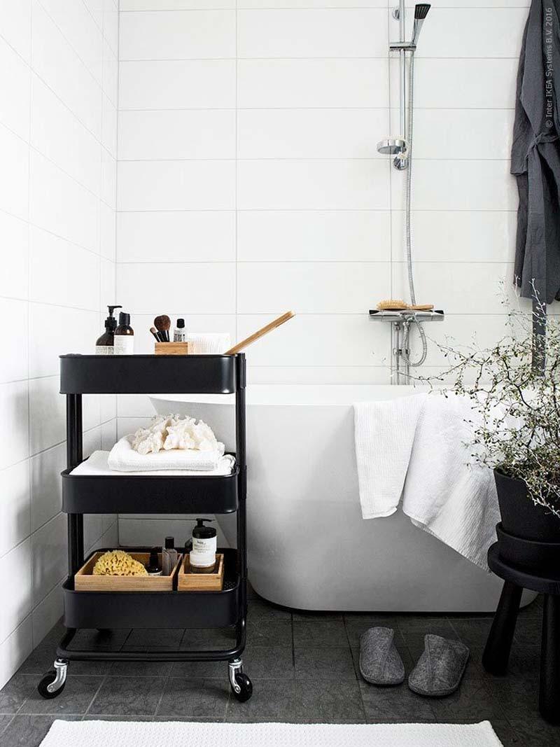 ikea badkamer raskog trolley