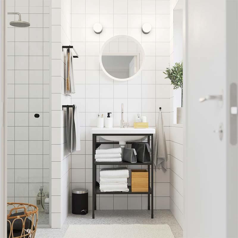 ikea badkamer stoer industrieel