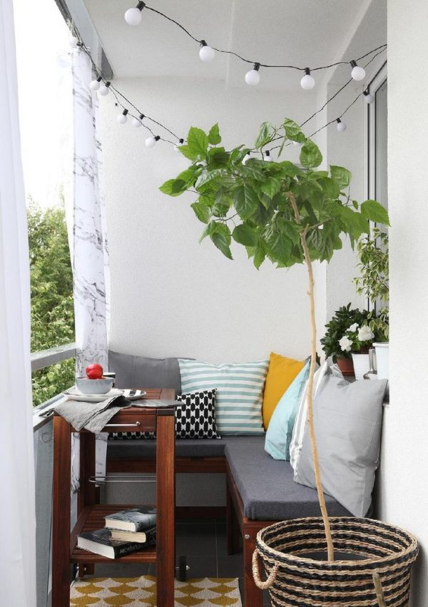 IKEA bank op balkon