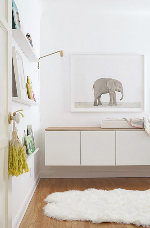 IKEA Besta kasten kinderkamer houten plank