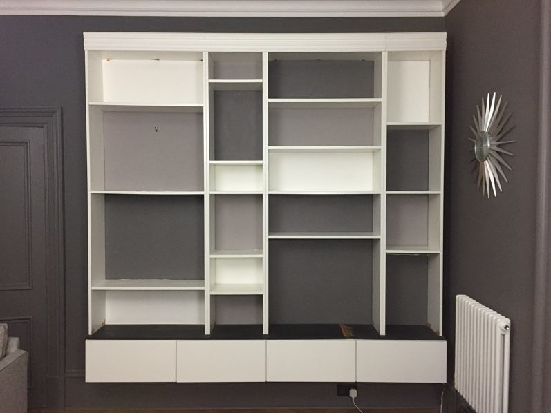 Ikea Billy boekenkast hack in de woonkamer