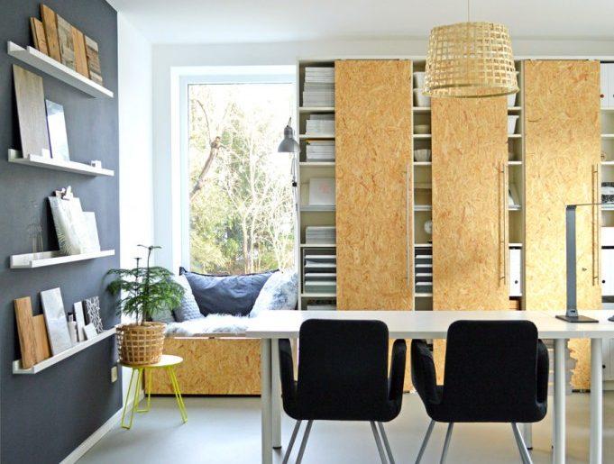 Ikea Billy Inspiratie : Ikea billy boekenkast hack met osb schuifdeuren homease