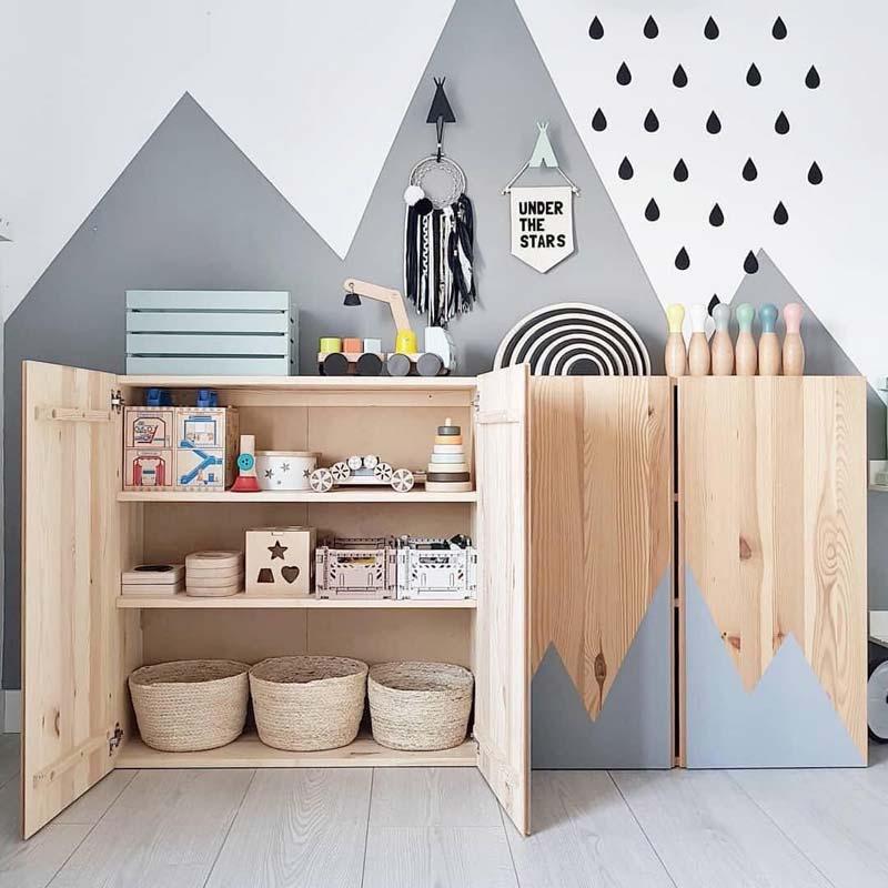 IKEA hack IVAR kast speels schilderen