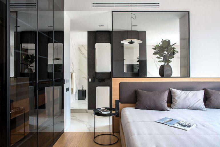 In deze luxe slaapkamer suite zijn de mooiste materialen gebruikt!