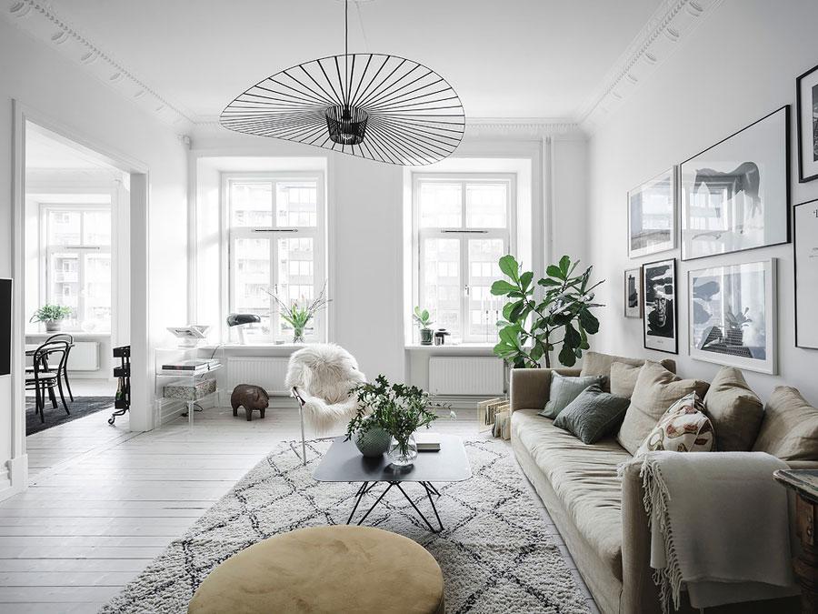 In deze woonkamer vind je een aantal super leuke woontrends!