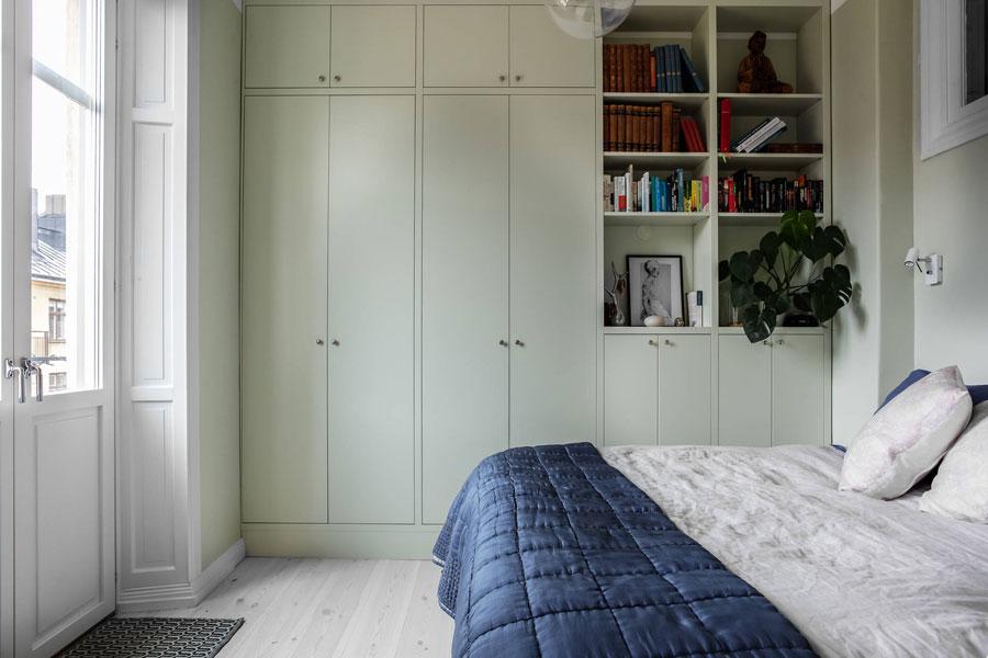 inbouwkast slaapkamer mintgroen