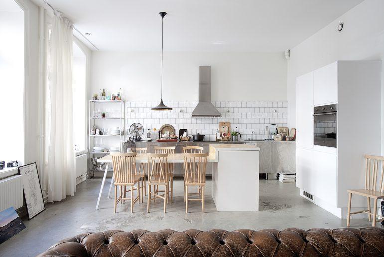 Industrieel appartement met vintage & Scandinavisch design