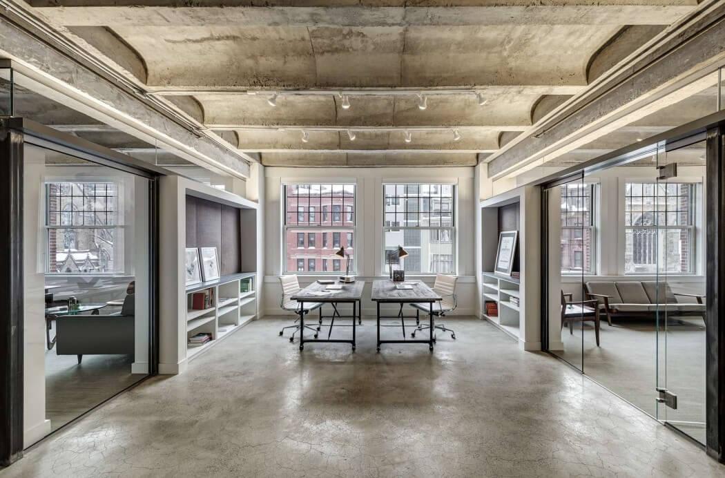 Slaapkamer Inspiratie Industrieel : Industrieel kantoor van projectontwikkelaar uit boston homease