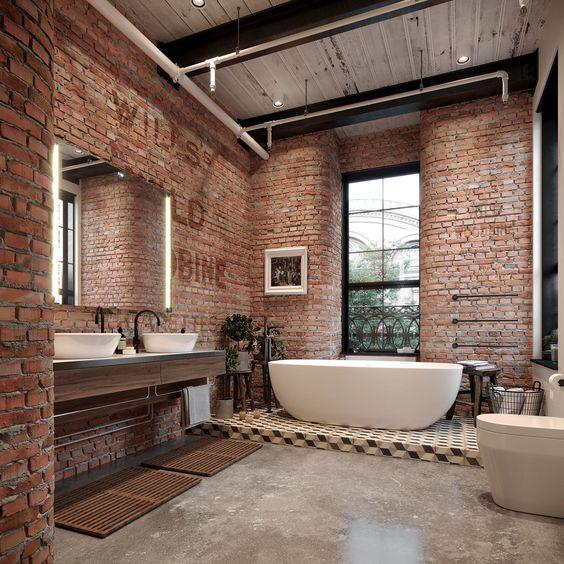 Industriële badkamer waskom