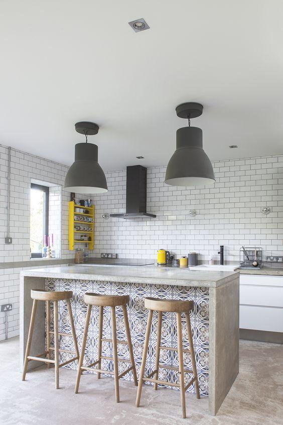 Industriële keuken betonnen werkblad
