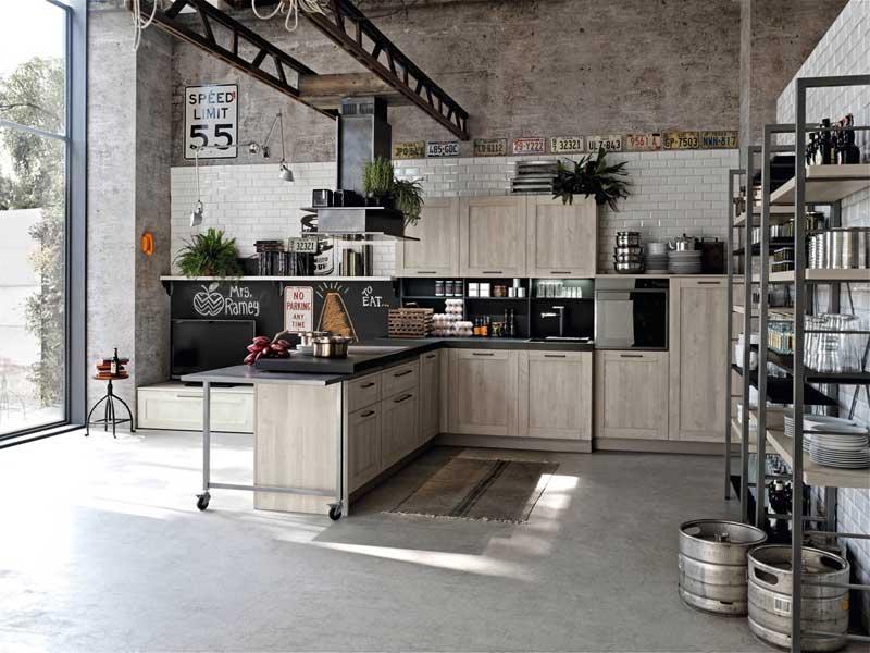 industriële keuken betonvloer