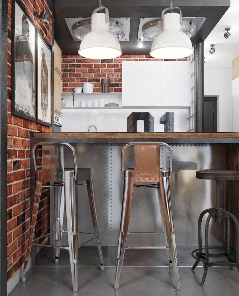 industriële keuken krukken
