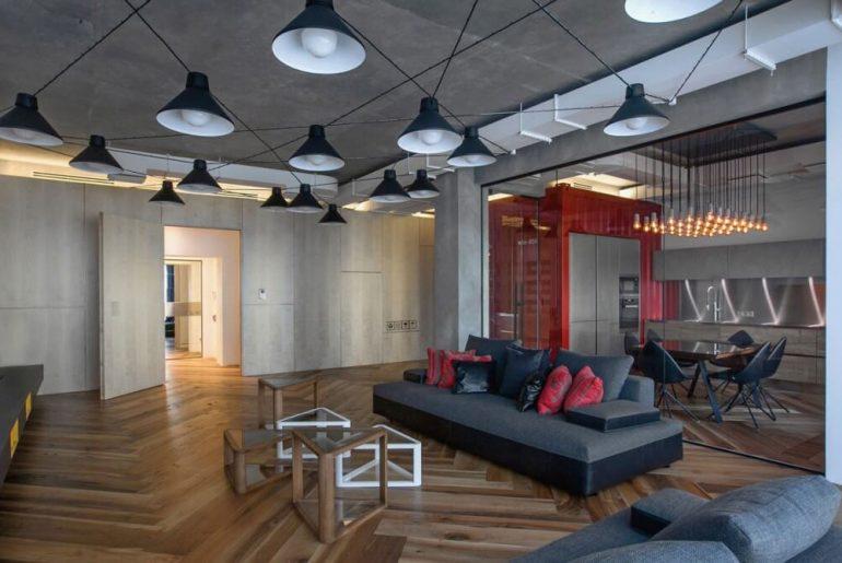 Industriele loft door DA Architects