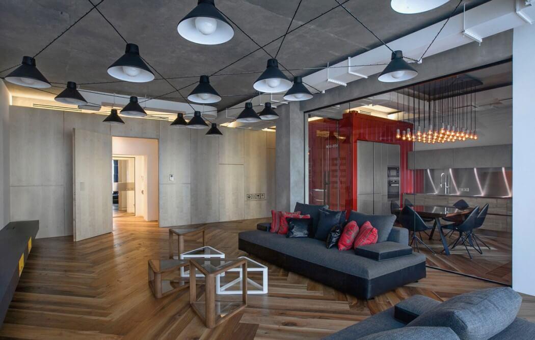 Industriele loft door da architects homease - Keuken industriele loft ...