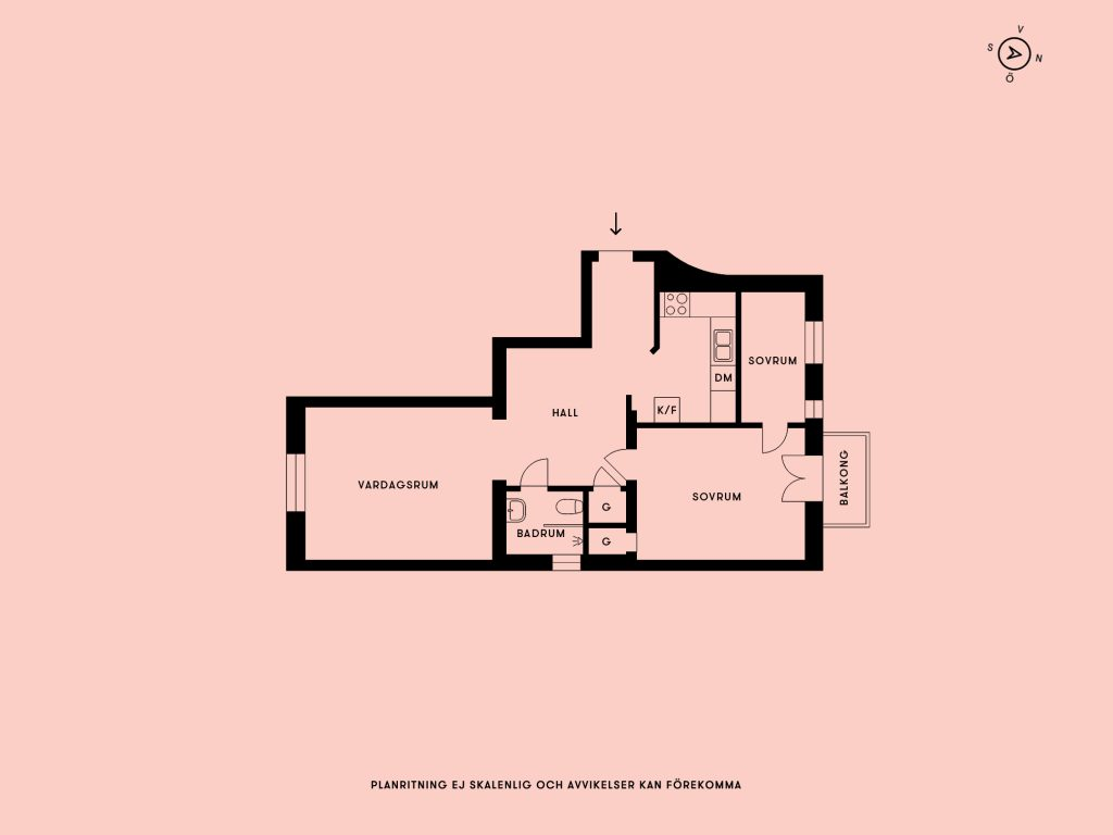 inrichting-appartement-plattegrond