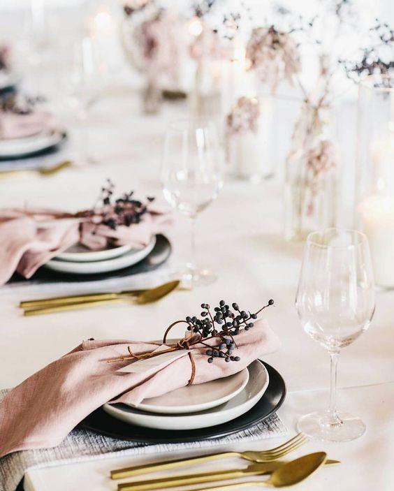 Inspiratie voor een kerstdiner tafel
