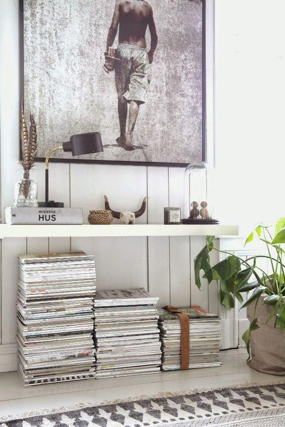 Inspiratie voor het opbergen van tijdschriften