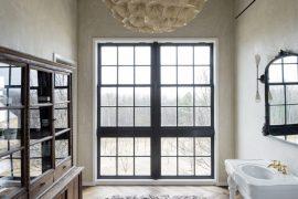 Inspirerend mooie badkamer van een woonboerderij