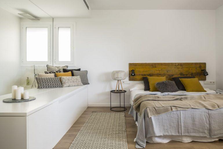 Inspirerende slaapkamer-badkamer-inloopkast combinatie