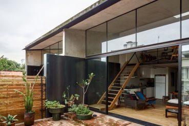 Integratie tussen terras balkon en woonkamer
