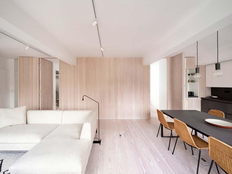 interieur houttinten modern appartement londen